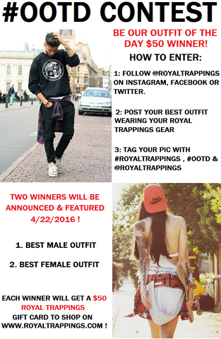 Royal Trappings #OOTD Contest Free Hoodie $50 Gift Card Giveaway