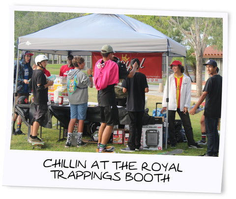 Royal Trappings Booth RoyalTrappings Volcom Skate Park