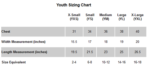 Royal Trappings Youth Size Chart