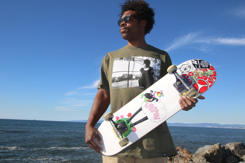 Royal Trappings Skater JJ Hamilton Wearing Little League Tee
