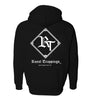 ROYAL TRAPPINGS CLASSIC ZIP UP HOODIE JACKET BLACK BACK