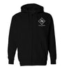 ROYAL TRAPPINGS CLASSIC ZIP UP HOODIE JACKET BLACK FRONT
