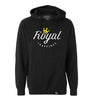 ROYAL TRAPPINGS LOGO PULL-OVER HOODIE SWEATSHIRT BLACK FRONT