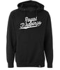 ROYAL TRAPPINGS CURSIVE PULL-OVER SWEATSHIRT HOODIE BLACK FRONT