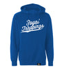 ROYAL TRAPPINGS CURSIVE PULL-OVER SWEATSHIRT HOODIE ROYAL BLUE FRONT
