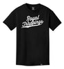 ROYAL TRAPPING CURSIVE TEE T-SHIRT BLACK FRONT