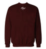 ROYAL TRAPPINGS CURSIVE CREWNECK SWEATSHIRT BURGUNDY BACK