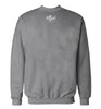 ROYAL TRAPPINGS CURSIVE CREWNECK SWEATSHIRT HEATHER GRAY BACK