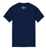 ROYAL TRAPPING CURSIVE TEE T-SHIRT NAVY BLUE BACK