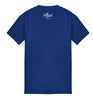 ROYAL TRAPPING CURSIVE TEE T-SHIRT ROYAL BLUE BACK