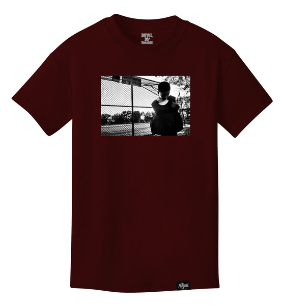 ROYAL TRAPPINGS LITTLE LEAGUE TEE T-SHIRT BURGUNDY FRONT
