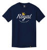 ROYAL TRAPPINGS LOGO TEE T-SHIRT NAVY BLUE FRONT