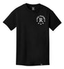 ROYAL TRAPPINGS R TEE T-SHIRT BLACK FRONT