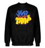 ROYAL TRAPPINGS SAVED BY THE TRAP CREWNECK SWEATSHIRT BLACK FRONT