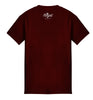 ROYAL TRAPPINGS SEAL TEE T-SHIRT BURGUNDY RED BACK