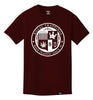 ROYAL TRAPPINGS SEAL TEE T-SHIRT BURGUNDY RED FRONT