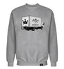 ROYAL TRAPPINGS TRAP TRUCK CREWNECK SWEATSHIRT GRAY FRONT
