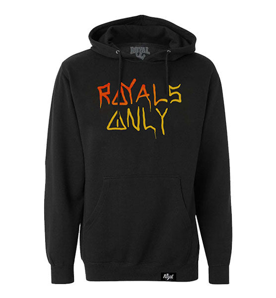 ROYAL TRAPPINGS ROYALS ONLY PULLOVER HOODIE SWEATSHIRT BLACK FRONT
