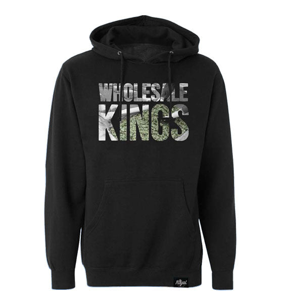 ROYAL TRAPPINGS WHOLESALE KINGS PULLOVER HOODIE SWEATSHIRT BLACK FRONT