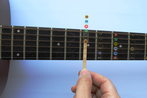 Guitar Fret Stickers- Color Coded – Long Beach Music