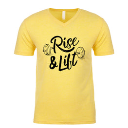 Rise and Lift Men's V Neck