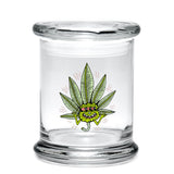 420 Jar with Pop-Top - Happy Leaf