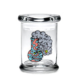 420 Jar with Pop-Top - Happy Bong