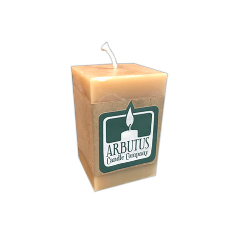 "Square 4"" Beeswax Pillar Candle by Arbutus Candle Company"