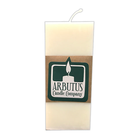 "Square 6"" Soy Pillar Candle by Arbutus Candle Company"