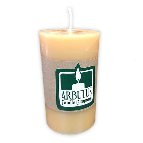 "Standard 6"" Beeswax Pillar Candle by Arbutus Candle Company"