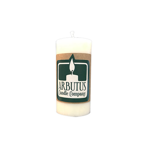 "Skinny 4"" Soy Pillar Candle by Arbutus Candle Company"