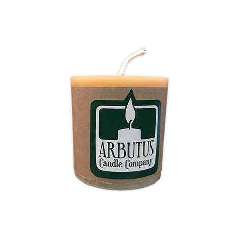 "Standard 4"" Beeswax Pillar Candle by Arbutus Candle Company"