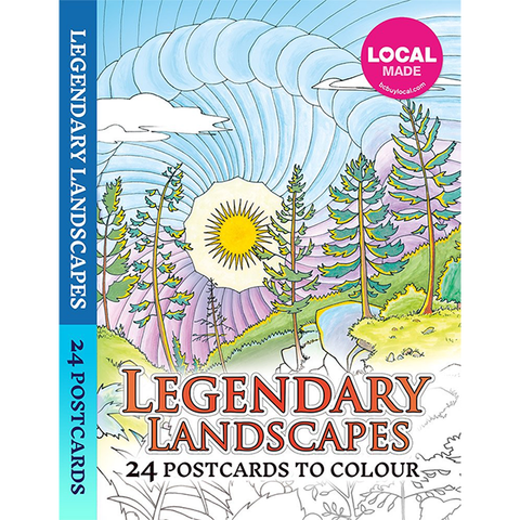 Legendary Landscapes: 24 Postcards to Colour