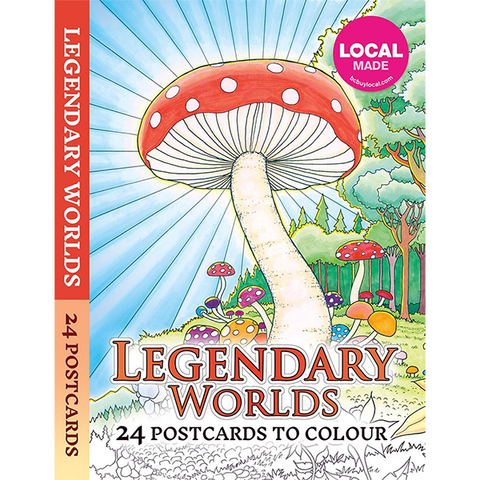 Legendary Worlds: 24 Postcards to Colour