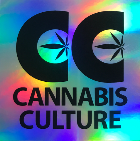 Cannabis Culture Holo Sticker