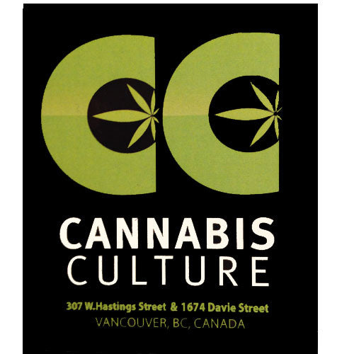 Cannabis Culture Logo Sticker