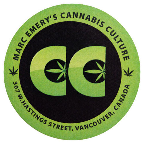 Round Cannabis Culture Logo Sticker