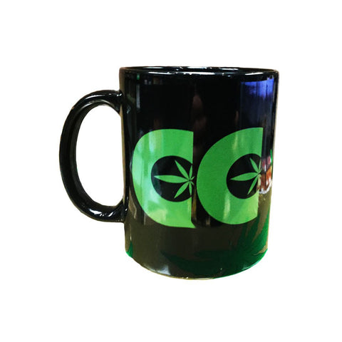 Cannabis Culture Black Coffee Mug