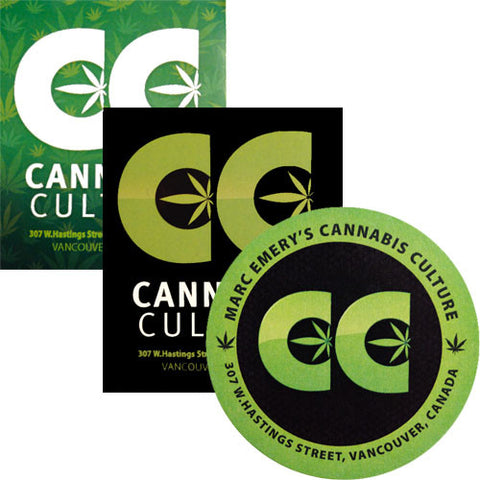 Cannabis Culture Logo Sticker Pack