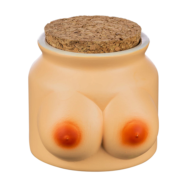 Ceramic Stash Jar with Boobs