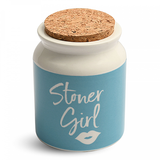 Stoner Girl Ceramic Stash Jar