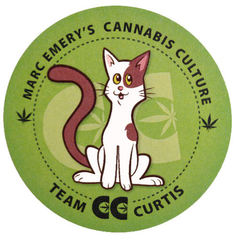 Team Curtis the Cat Sticker