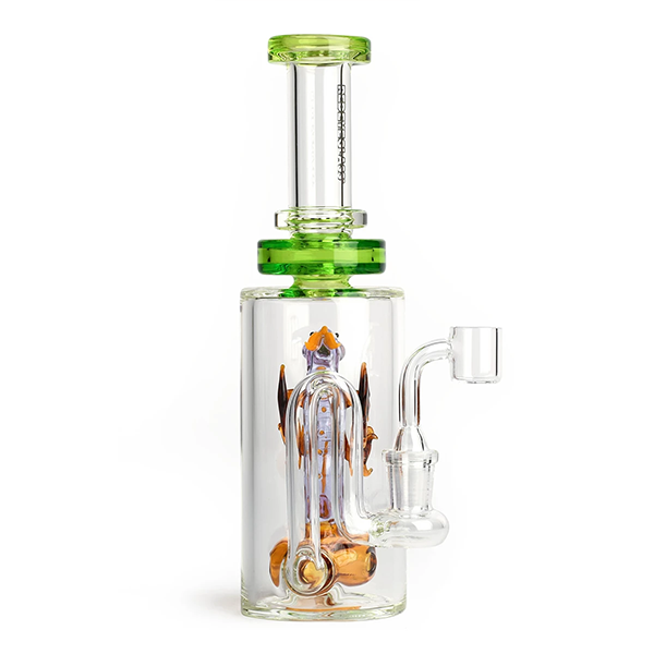 Dragon Concentrate Rig with 5 Hole Disc Perc by Red Eye Glass