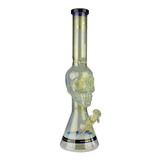 "Tuxedo Skull 18"" Bong with Black Accents by GEAR"
