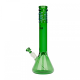 "14"" Tall Beaker Bong With Worked Top"