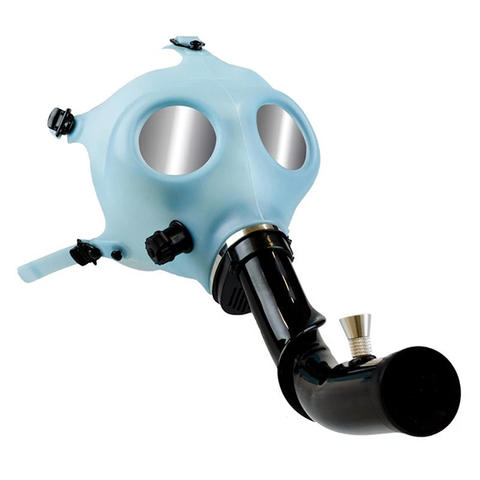 Gas Mask with Curved Acrylic Steamroller