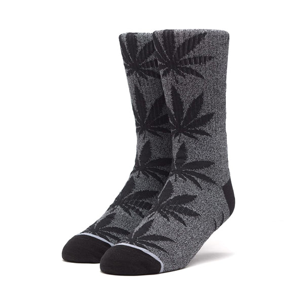 HUF Plantlife Kush Melange Crew Sock in Black