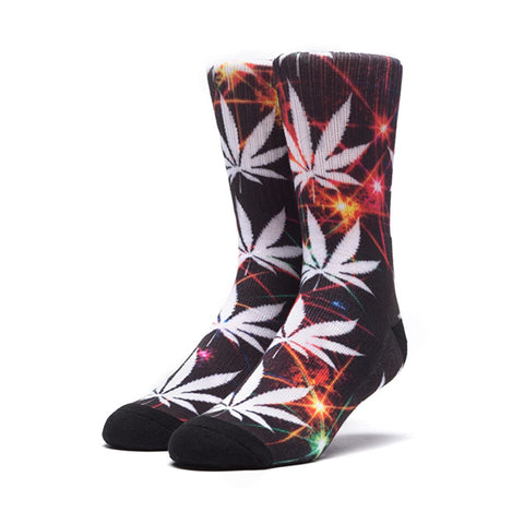 HUF Plantlife Crew Sock - All of the Lights in Black