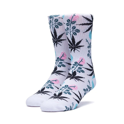 HUF Cherry Blossom Plantlife Crew Sock in White
