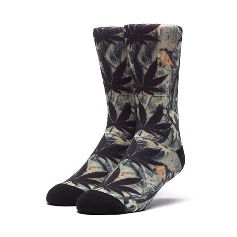 HUF Plantlife Digi Camo Crew Sock in Black